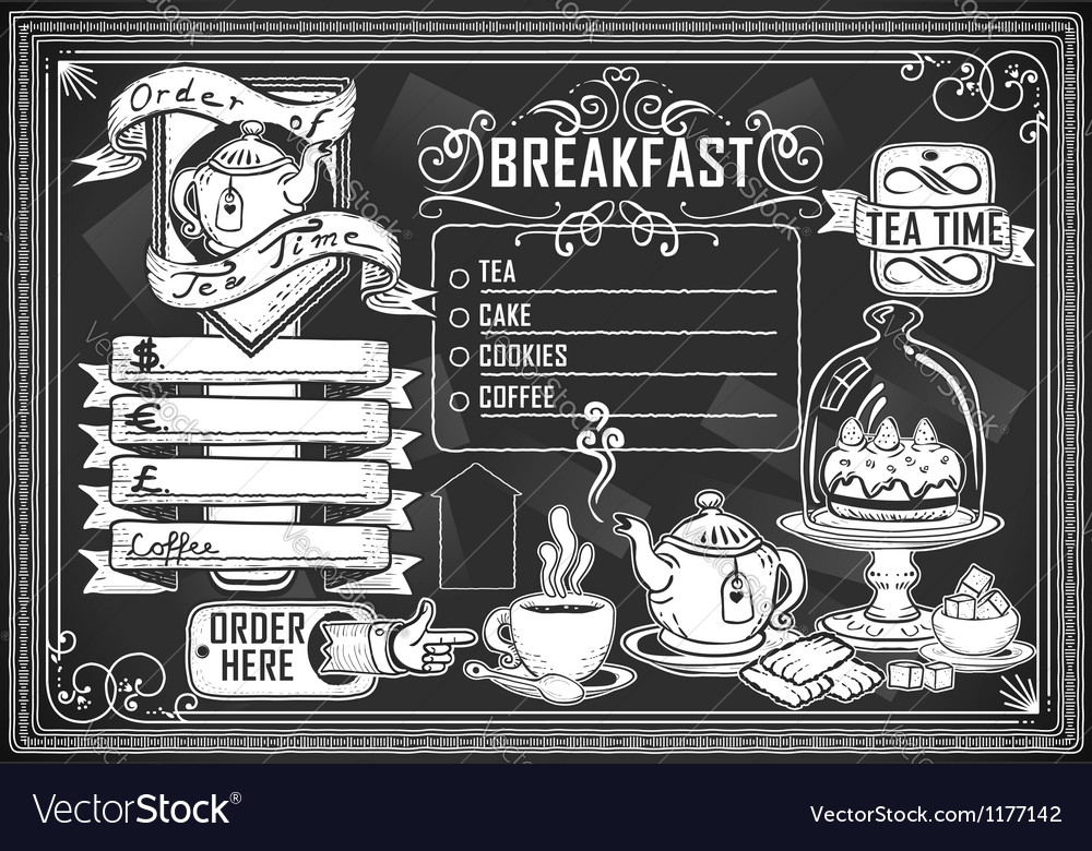 Vintage graphic element for bar menu vector | Price: 1 Credit (USD $1)