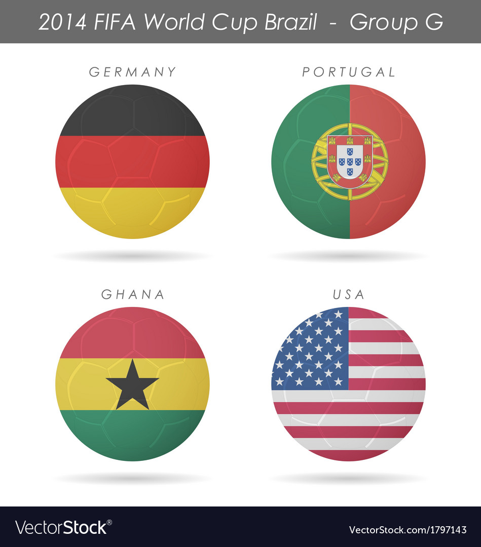 2014 fifa world cup group g countries vector | Price: 1 Credit (USD $1)
