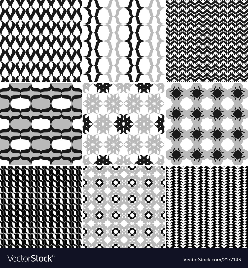 9 great patterns set 2 vector | Price: 1 Credit (USD $1)