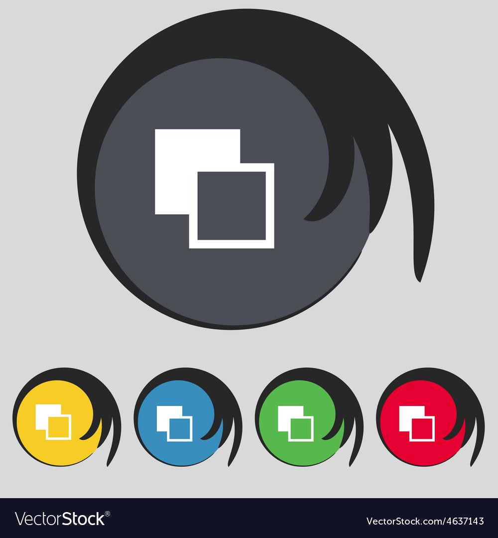 Active color toolbar icon sign symbol on five vector | Price: 1 Credit (USD $1)