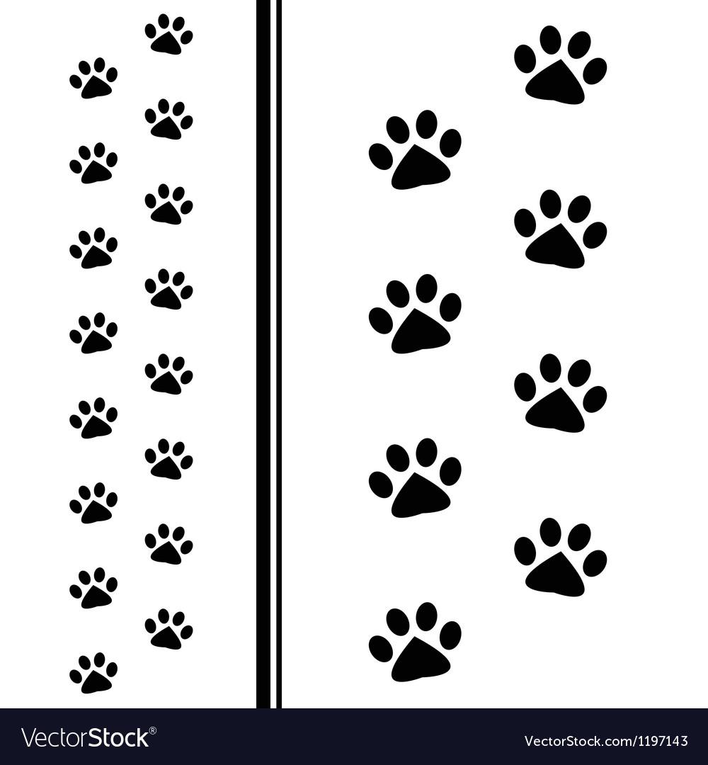 Animal paw prints vector | Price: 1 Credit (USD $1)