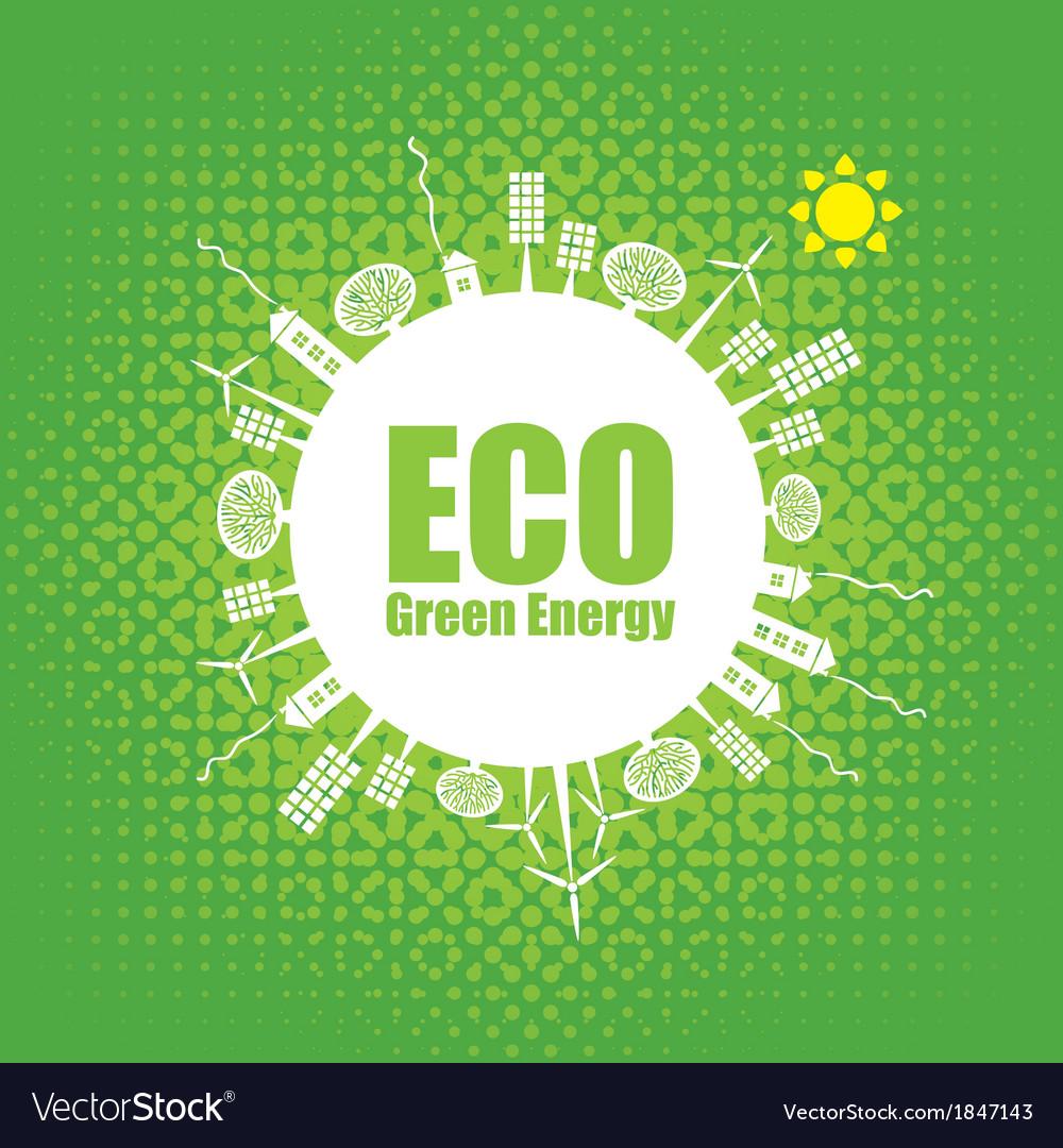 Green energy vector   Price: 1 Credit (USD $1)