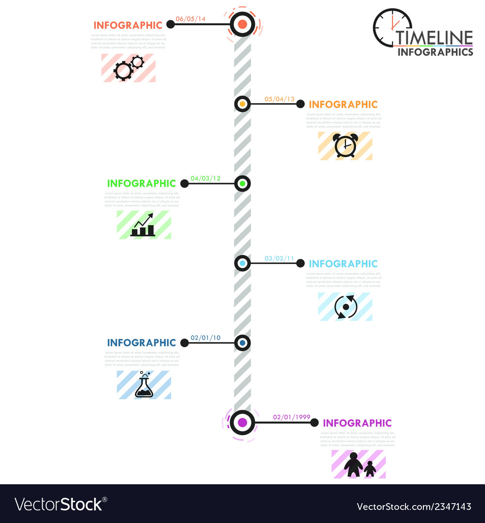 Minimal infographic timeline vector | Price: 1 Credit (USD $1)