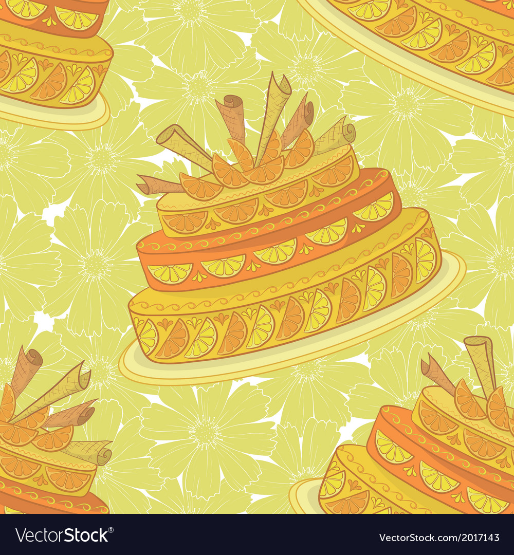 Seamless background holiday pie vector | Price: 1 Credit (USD $1)