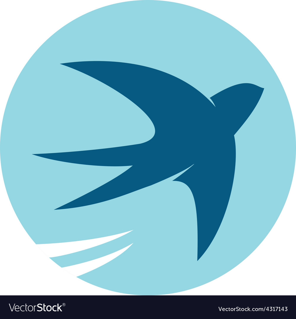 Swallow bird silhouette logo vector | Price: 1 Credit (USD $1)
