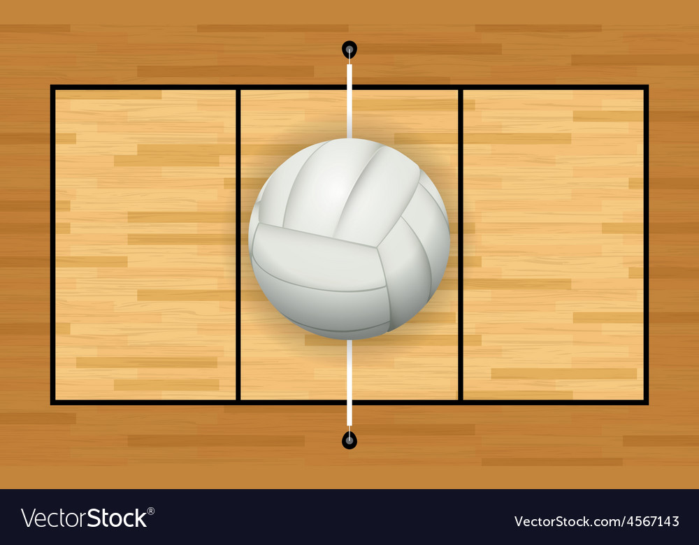 Volleyball court and volleyball vector   Price: 1 Credit (USD $1)