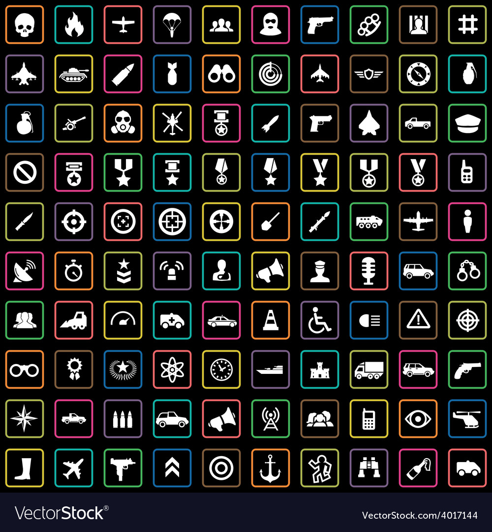 100 war icons vector   Price: 1 Credit (USD $1)