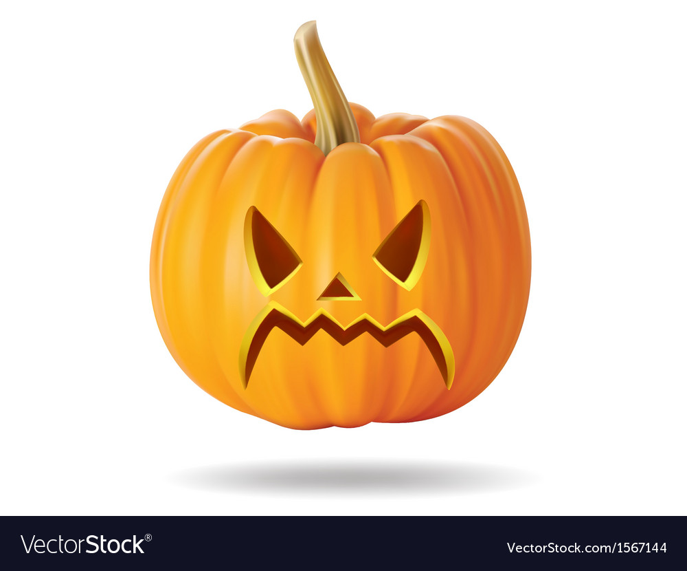 Angry pumpkin vector | Price: 1 Credit (USD $1)