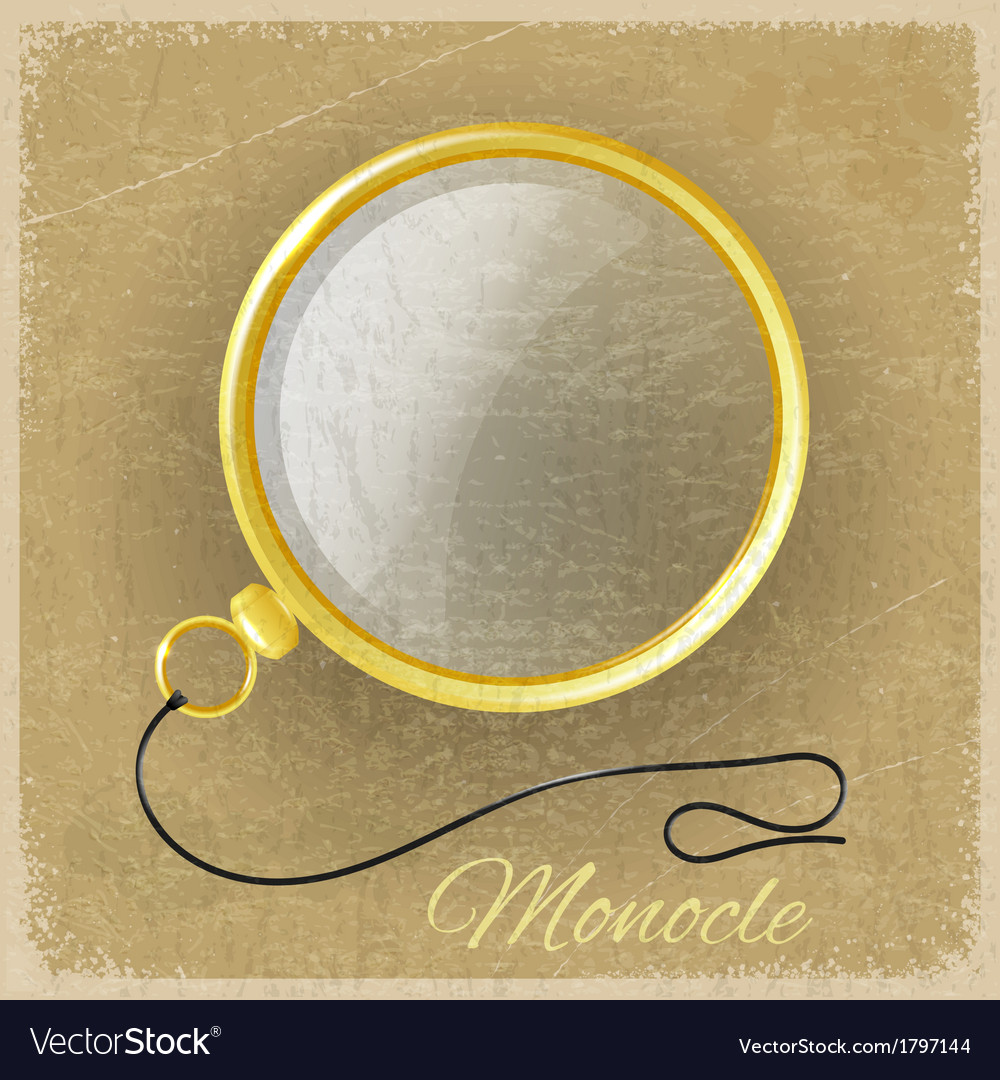 Antique gold monocle on a grunge background vector | Price: 1 Credit (USD $1)