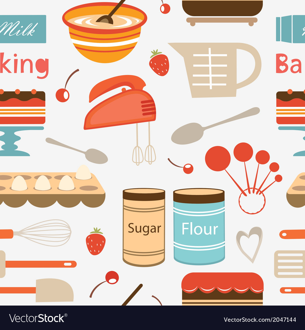 Baking pattern vector | Price: 1 Credit (USD $1)