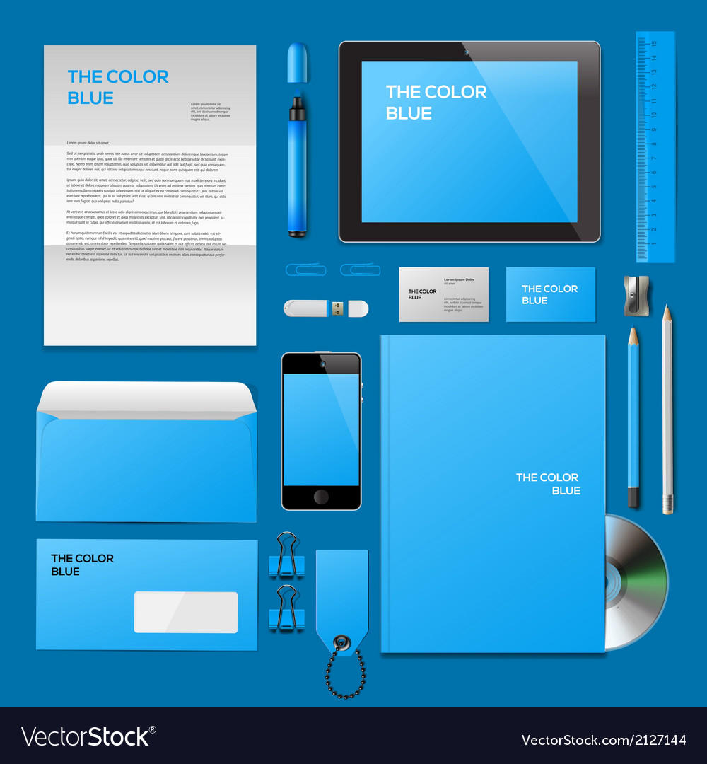 Blue corporate id mockup vector | Price: 1 Credit (USD $1)
