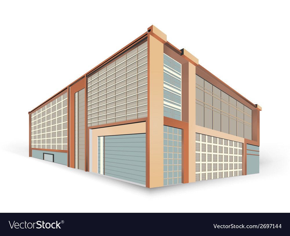 Building style scene vector | Price: 1 Credit (USD $1)