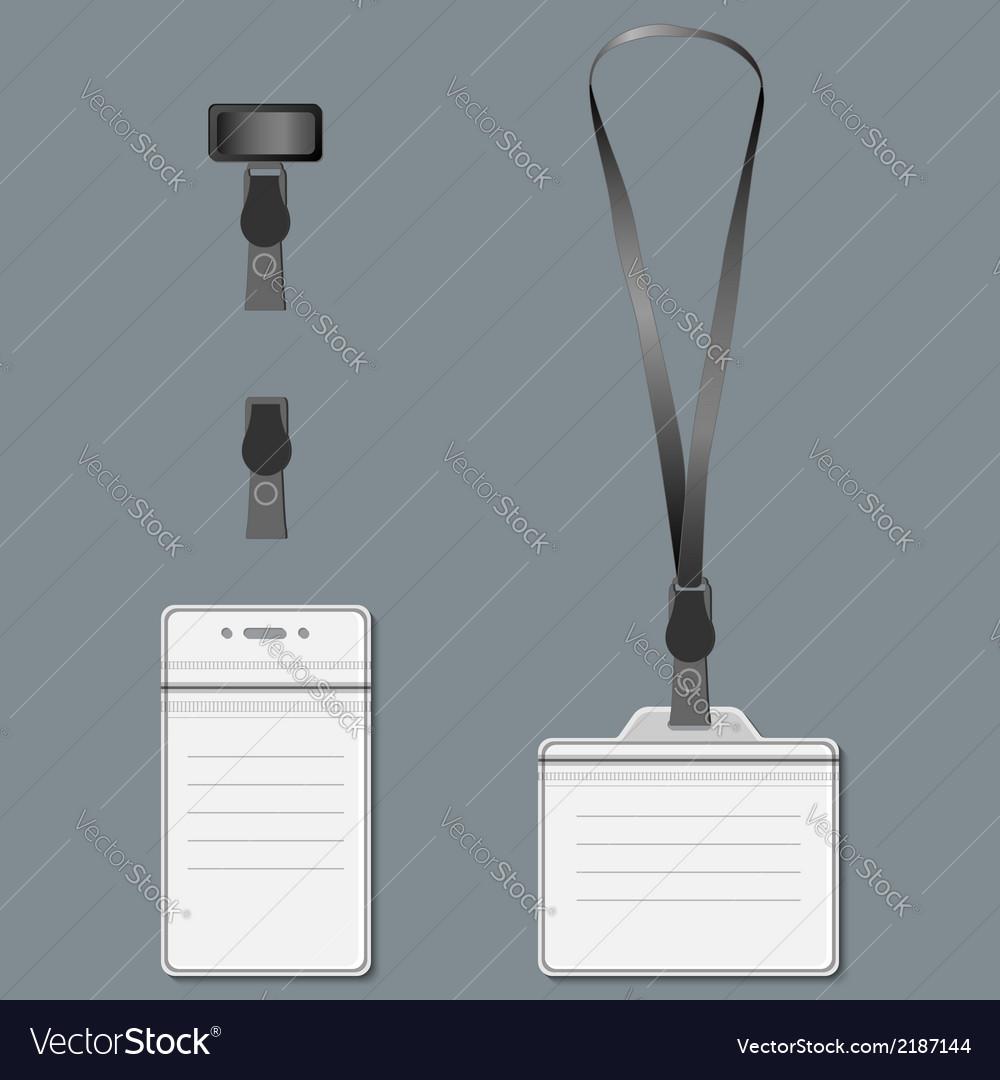 Lanyard retractor end badge eps10 vector | Price: 1 Credit (USD $1)