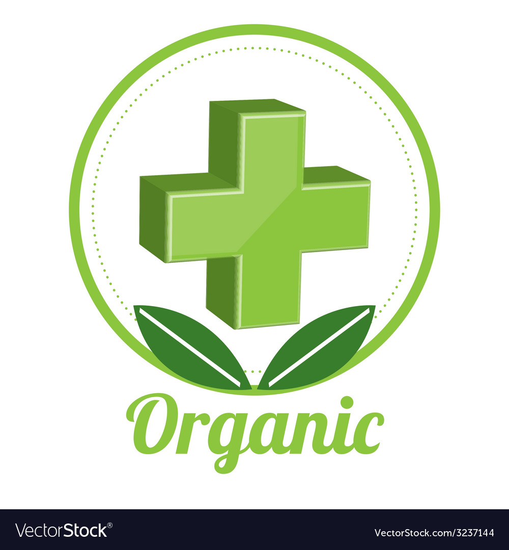 Medicine organic design vector | Price: 1 Credit (USD $1)