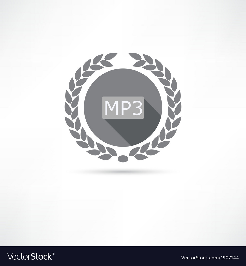Mp3 icon vector | Price: 1 Credit (USD $1)