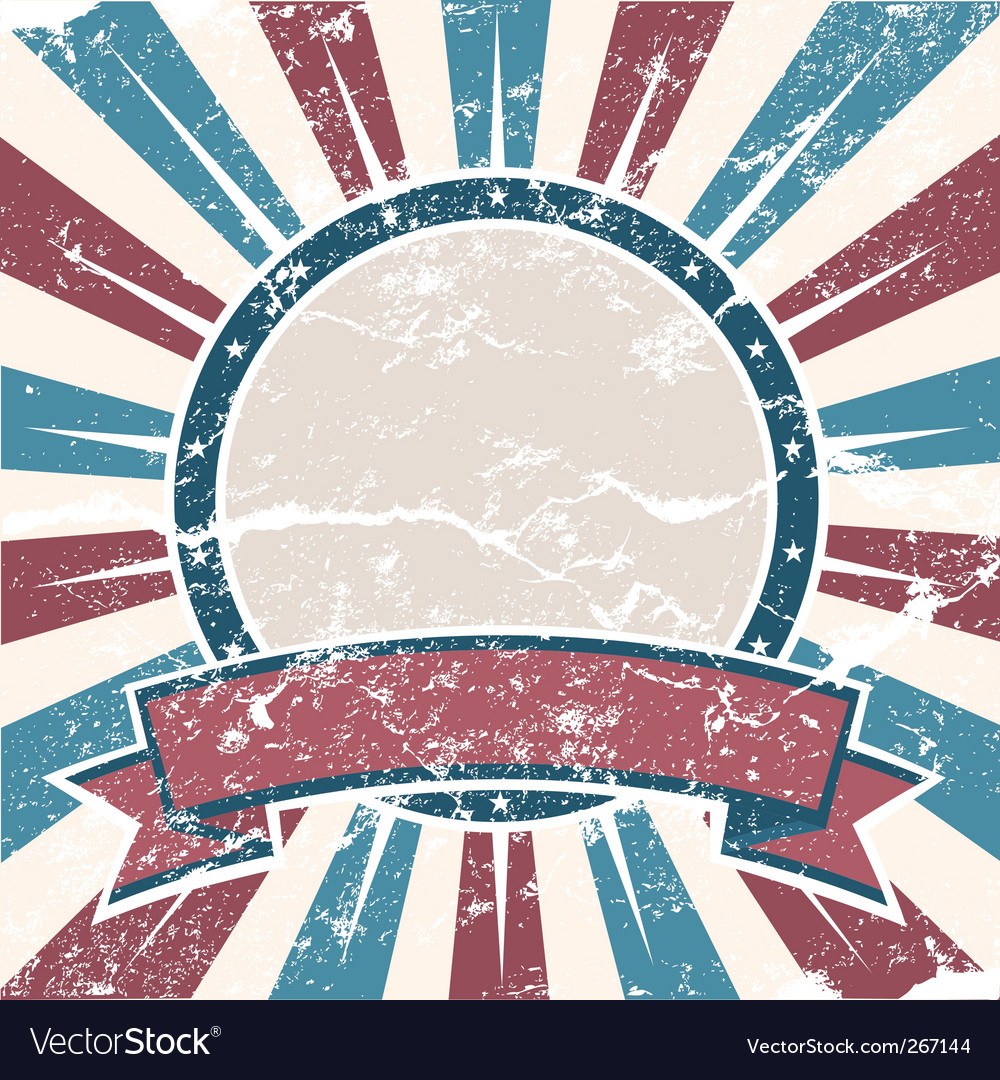 Old usa colors ring grunge vector | Price: 1 Credit (USD $1)