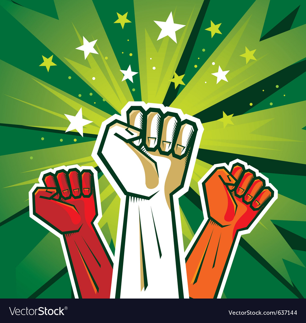 Revolution hand poster vector | Price: 1 Credit (USD $1)