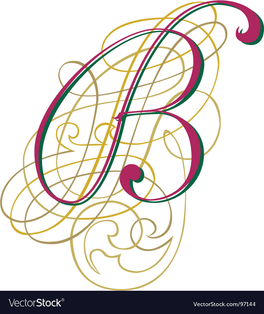 Script letter b vector | Price: 1 Credit (USD $1)