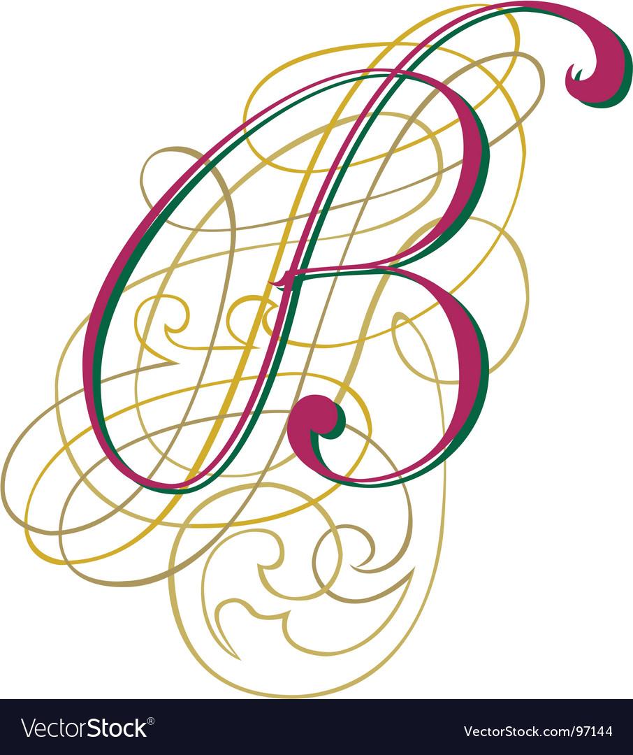 Script letter b vector | Price: 1 Credit (USD $1)