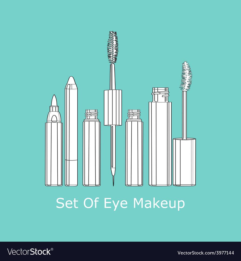 Set of eye makeup vector | Price: 1 Credit (USD $1)