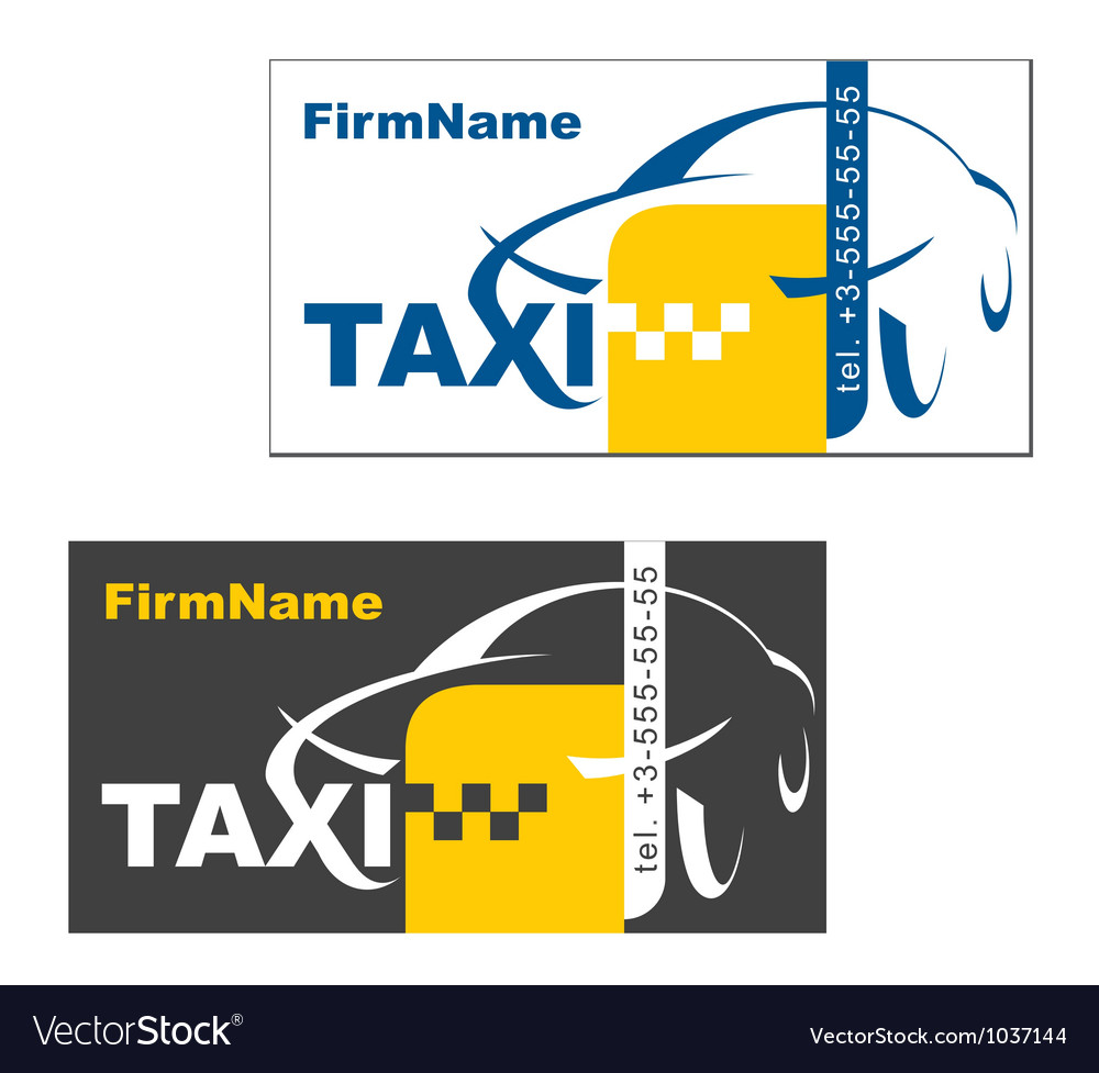 Taxi firm name card vector | Price: 1 Credit (USD $1)