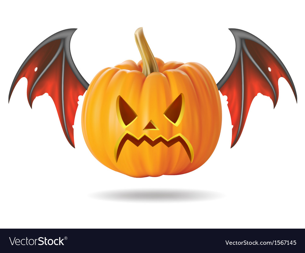 Angry pumpkin2 vector | Price: 1 Credit (USD $1)