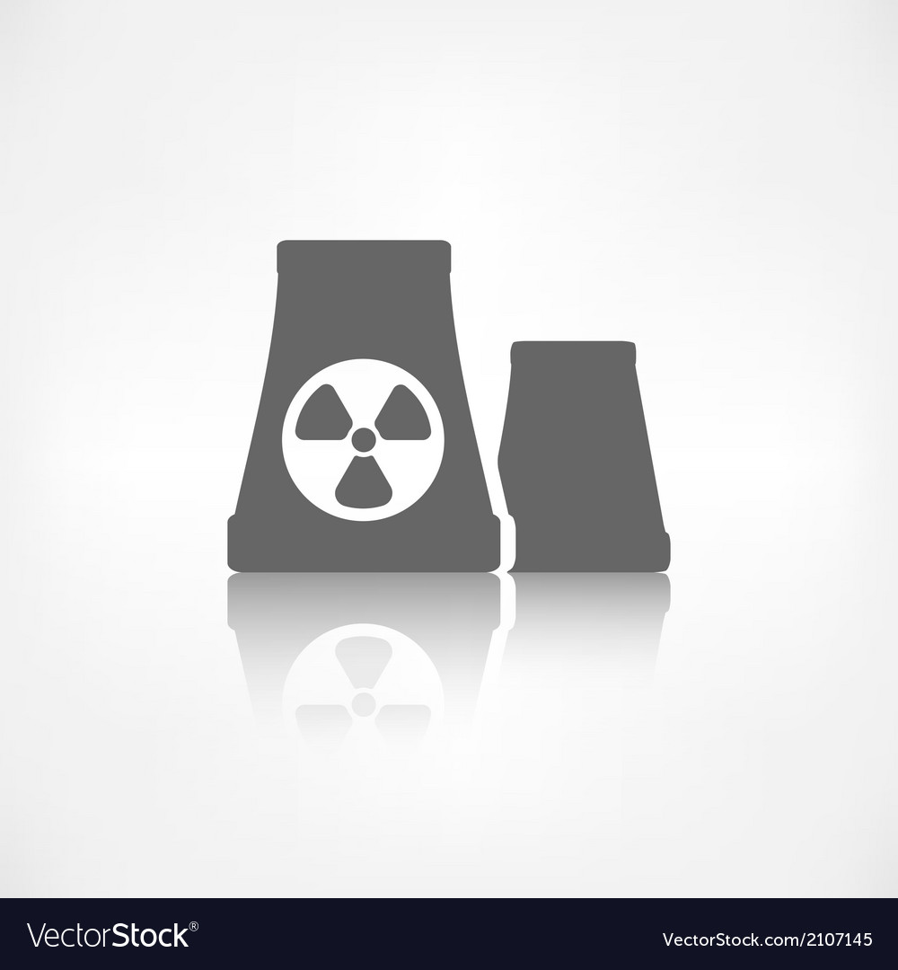 Atomic power station icon vector | Price: 1 Credit (USD $1)