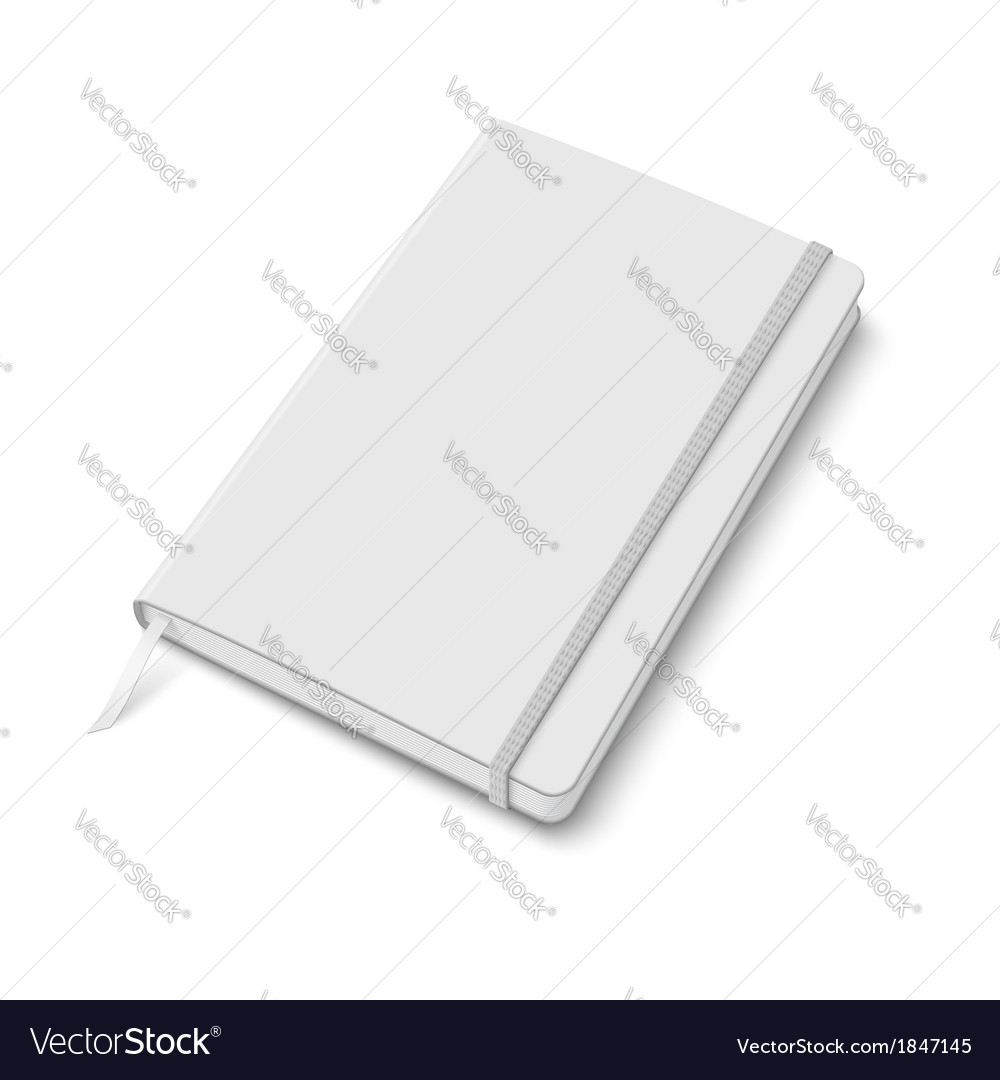 Blank copybook template with elastic band vector | Price: 1 Credit (USD $1)