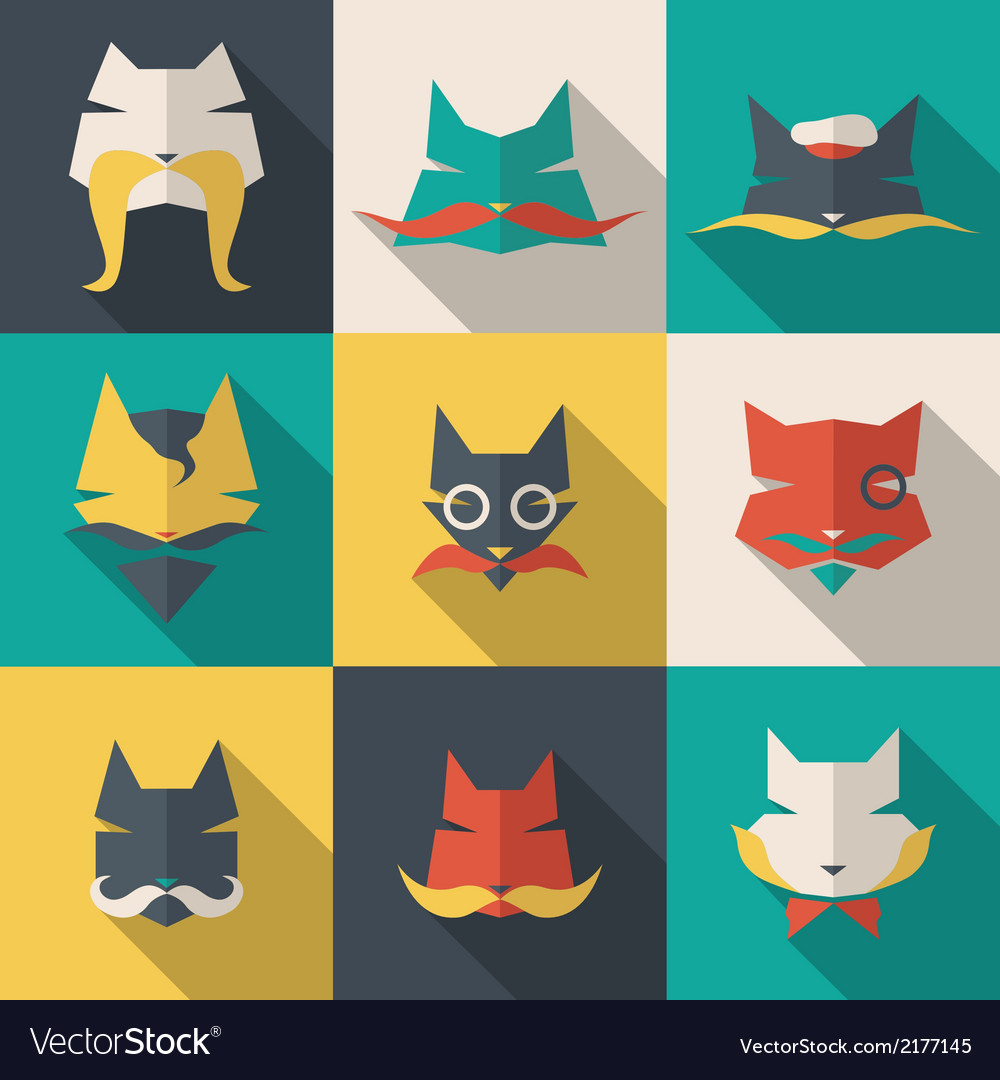 Bright cats vector