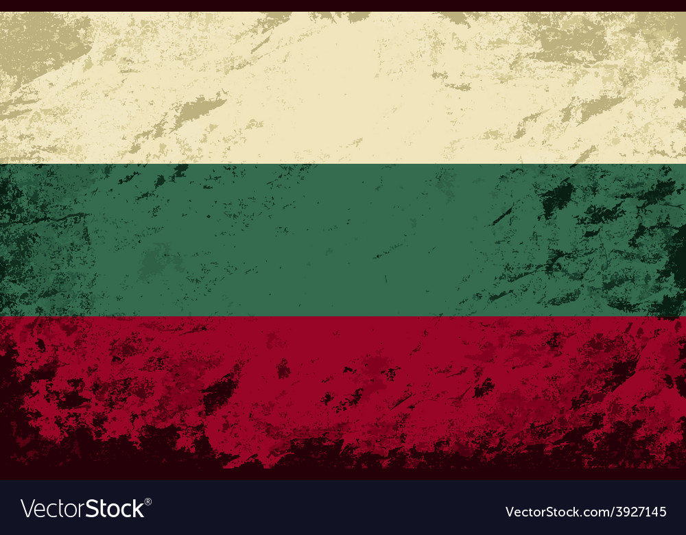 Bulgarian flag grunge background vector   Price: 1 Credit (USD $1)