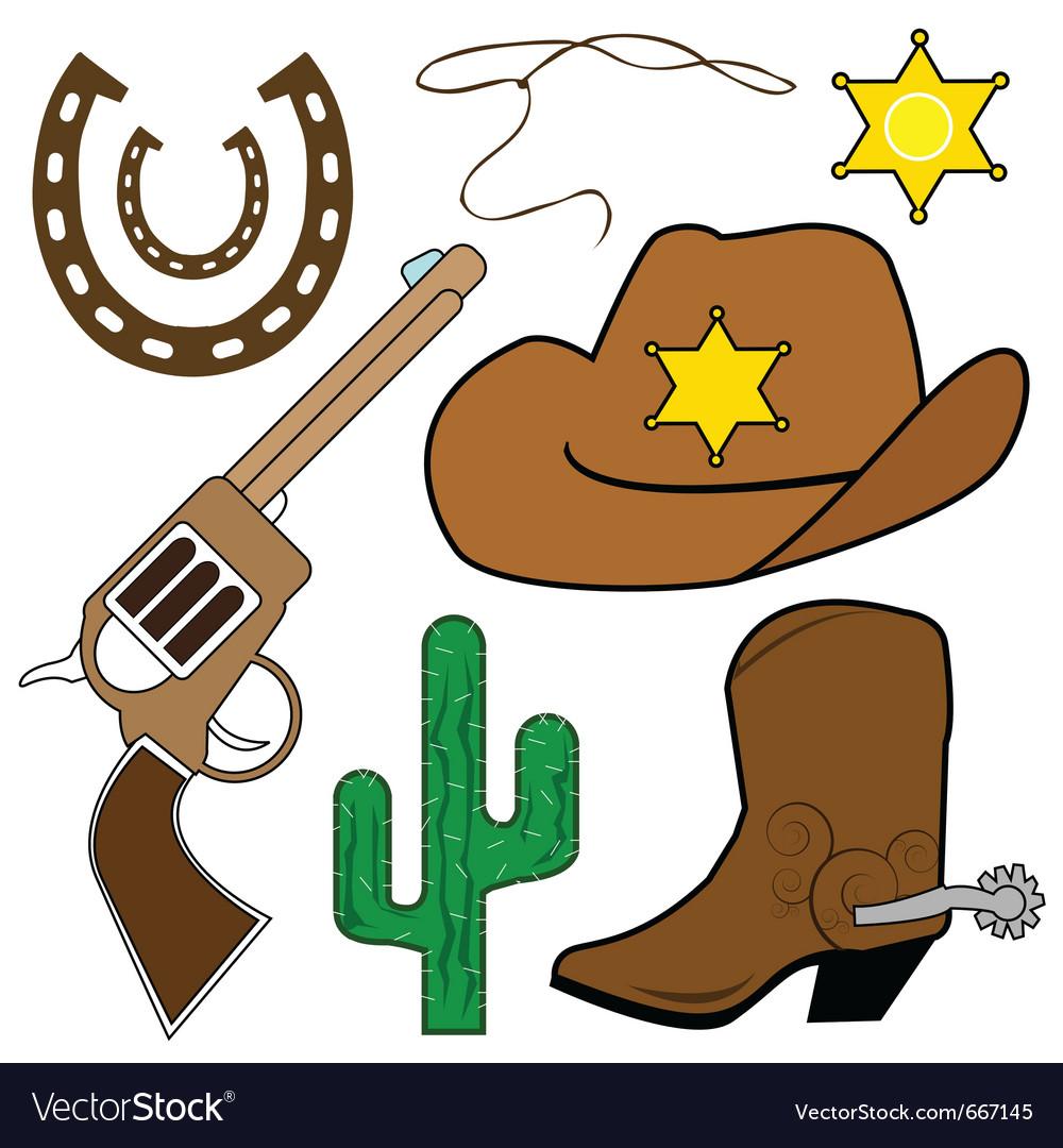 Cowboy design elements vector | Price: 1 Credit (USD $1)