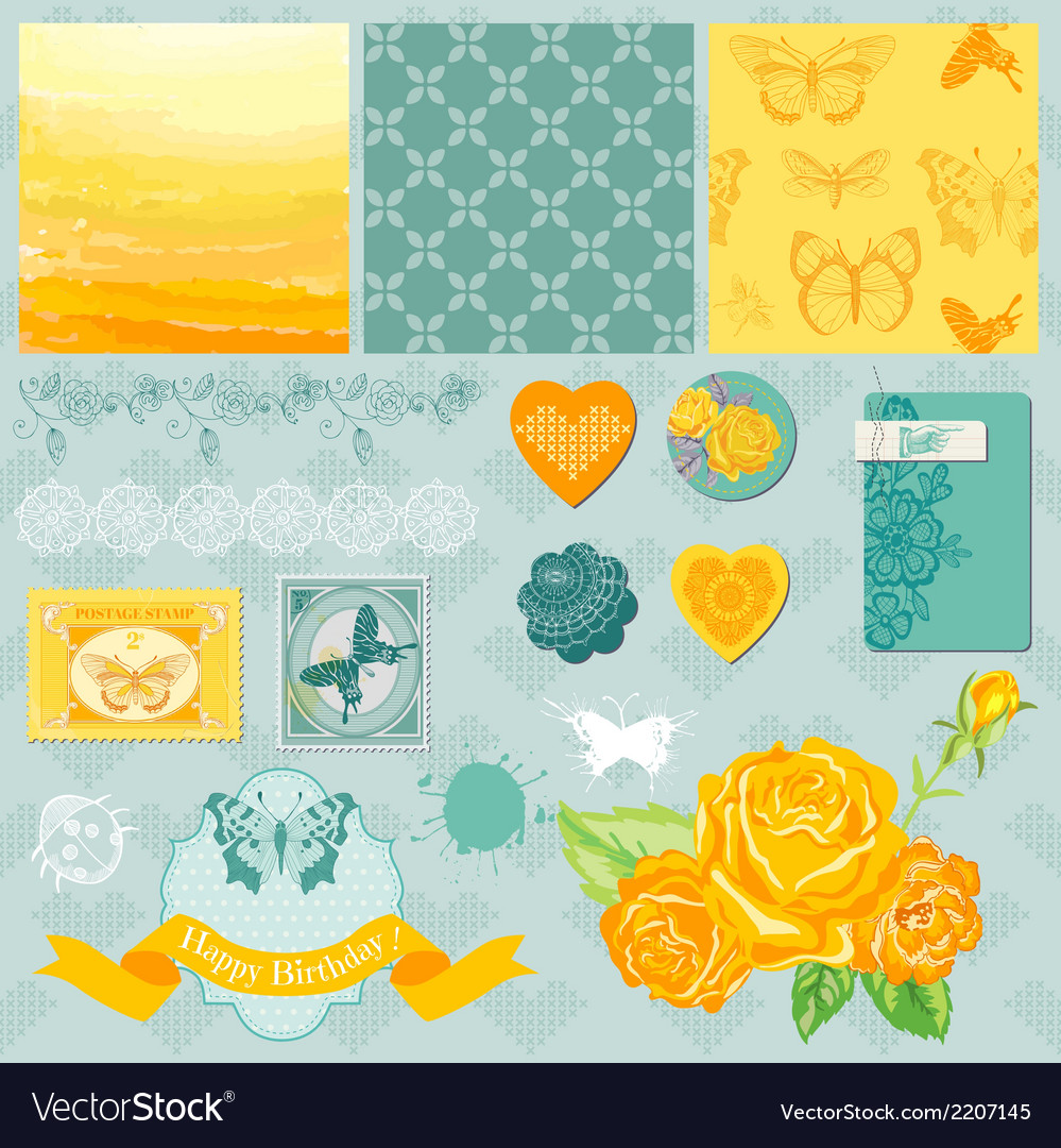 Design elements - ombre butterflies theme vector | Price: 1 Credit (USD $1)