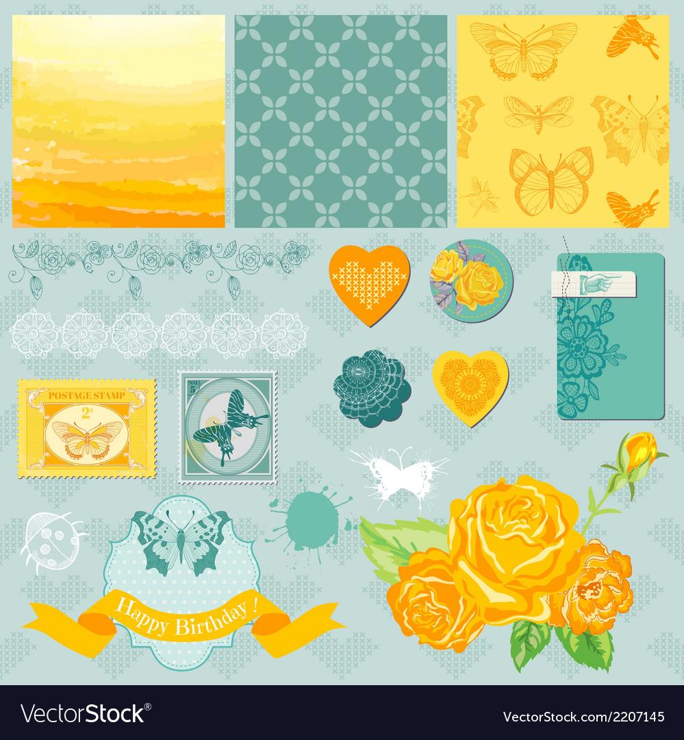 Design elements - ombre butterflies theme vector | Price: 1 Credit (USD $1)