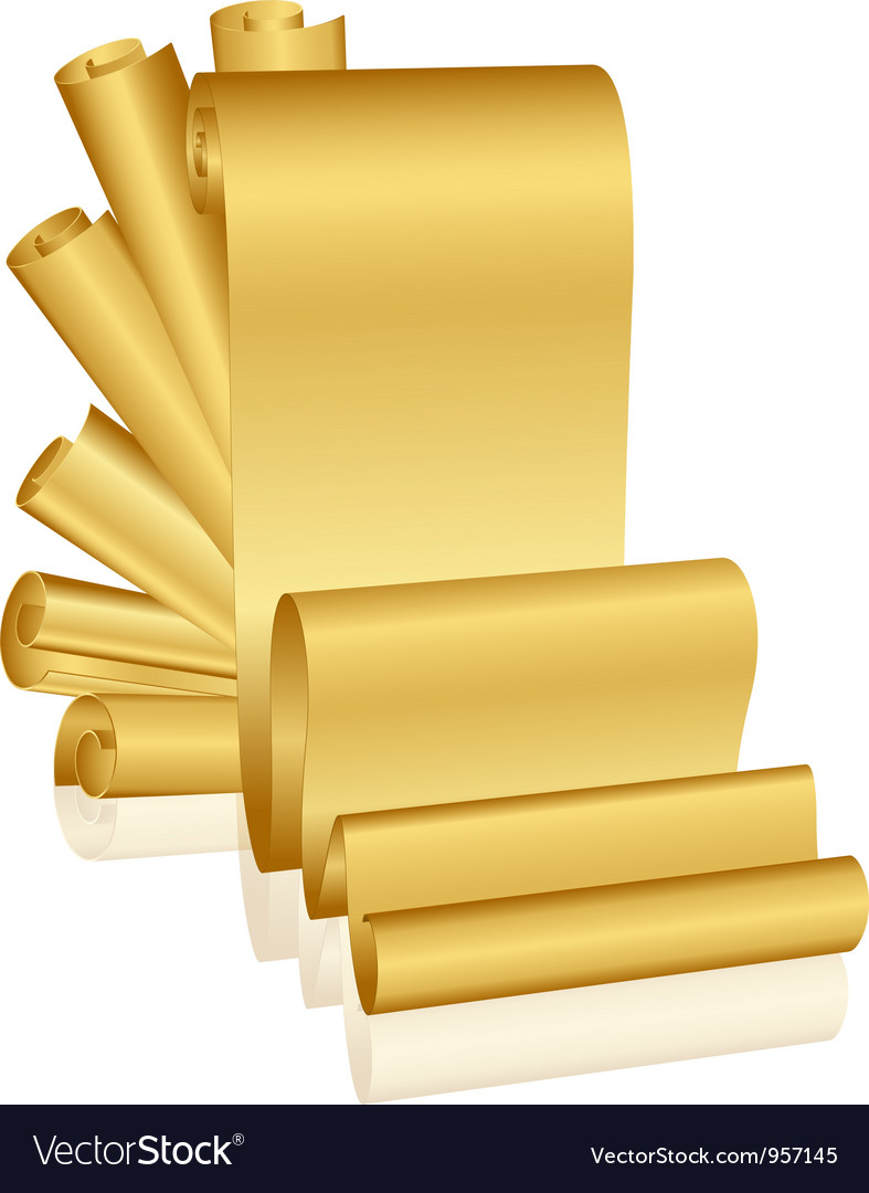 Gold scrolls vector | Price: 1 Credit (USD $1)