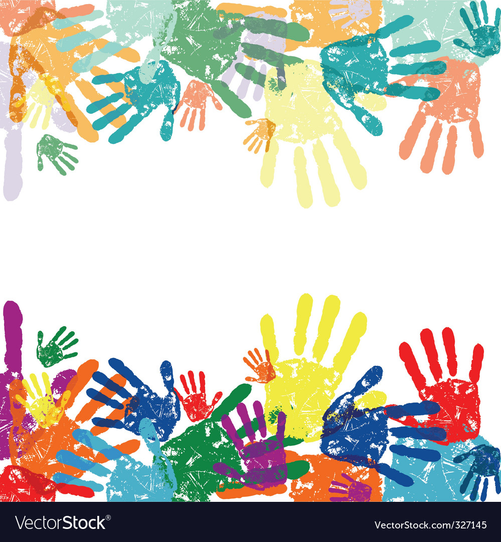 hand prints background vector | Price: 1 Credit (USD $1)