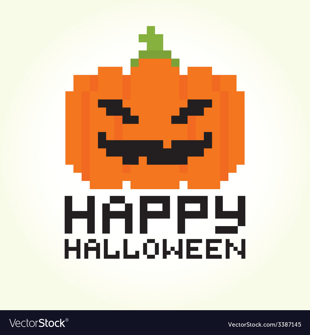 Happy halloween pumpkin vector | Price: 1 Credit (USD $1)