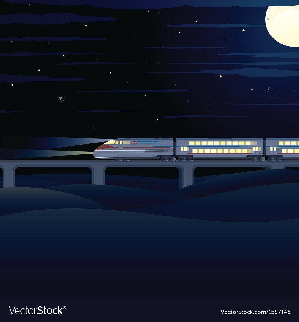 Night express vector | Price: 1 Credit (USD $1)