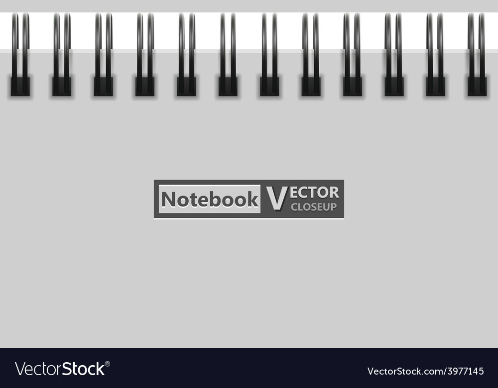 Notebook closeup vector | Price: 1 Credit (USD $1)