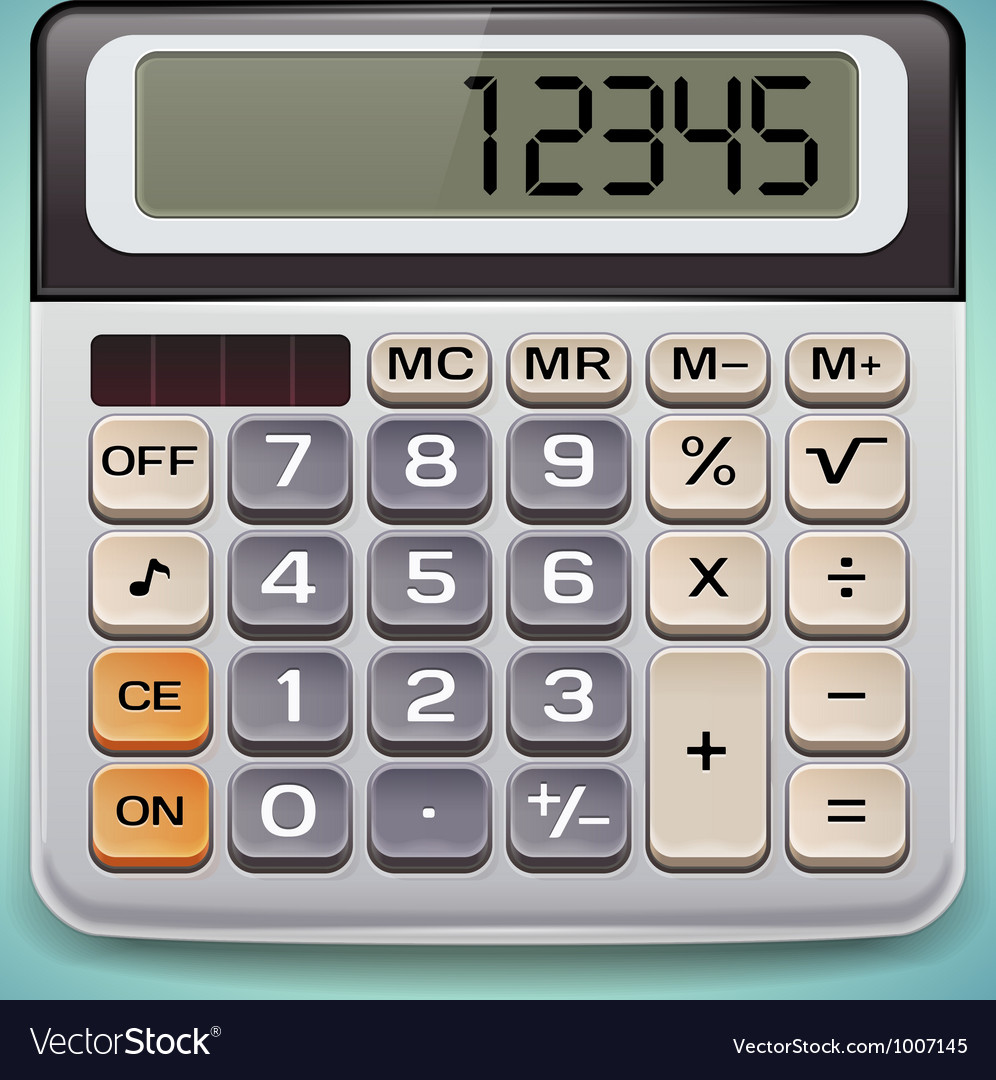 Realistic electronic calculator vector | Price: 3 Credit (USD $3)