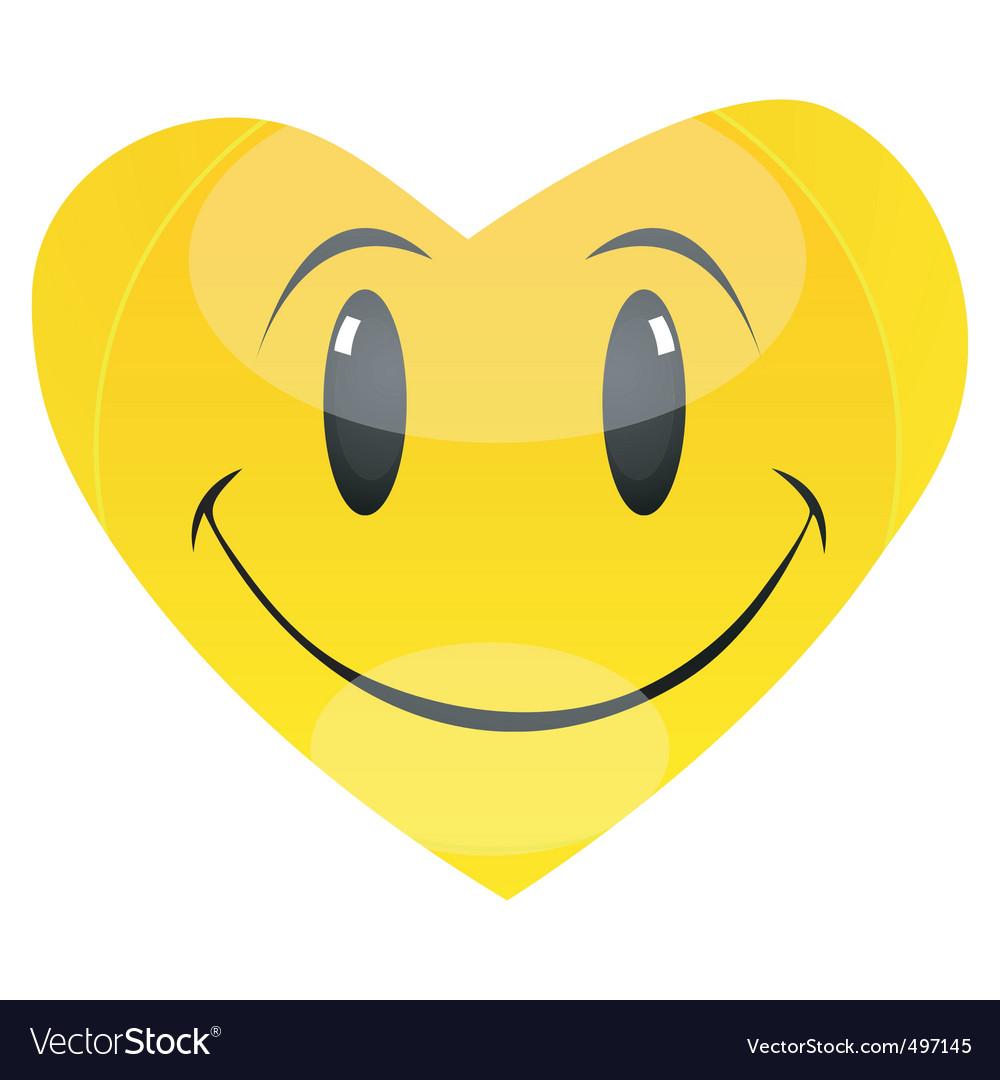 Smiley heart vector | Price: 1 Credit (USD $1)