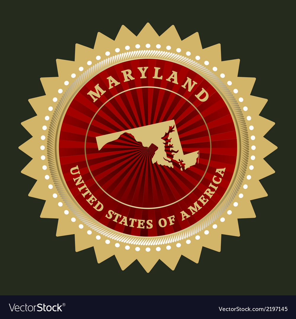 Star label maryland vector | Price: 1 Credit (USD $1)