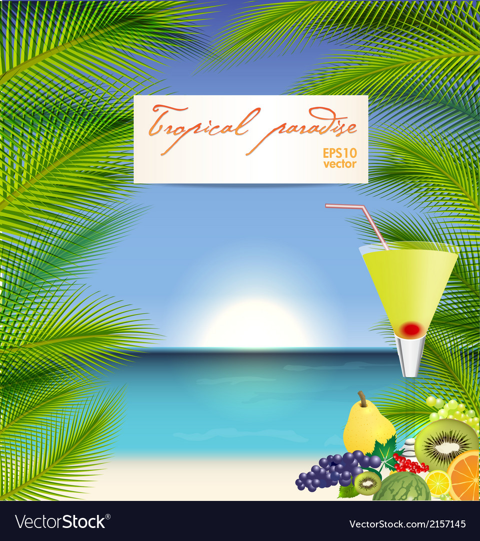 Summer holidays with cocktail vector   Price: 1 Credit (USD $1)
