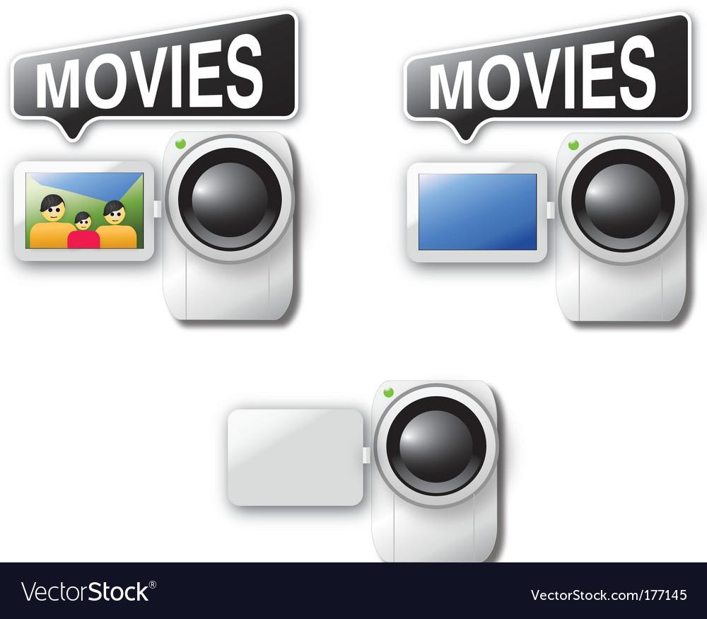 Video cameras vector | Price: 1 Credit (USD $1)