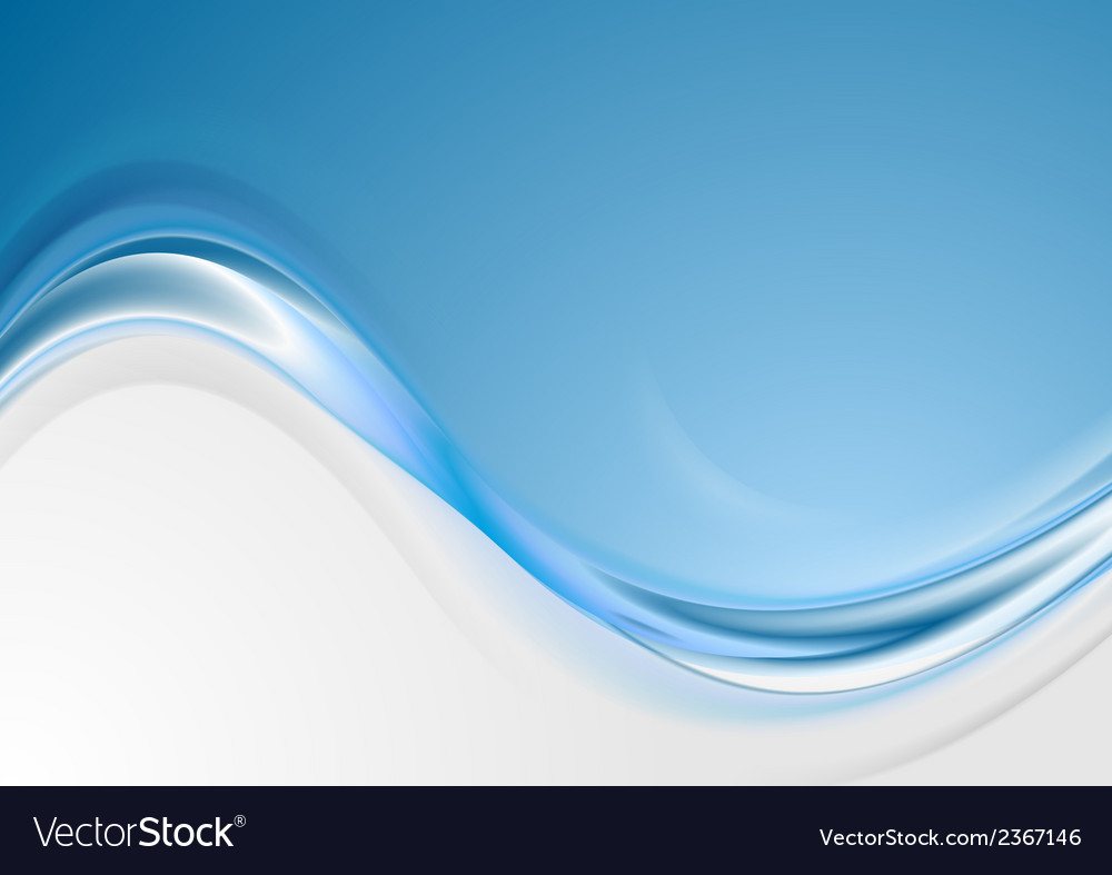 Bright blue wavy abstract background vector | Price: 1 Credit (USD $1)