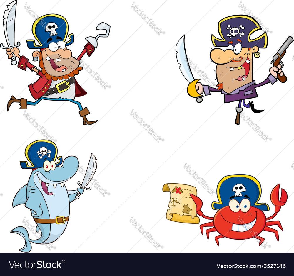 Cartoon pirates vector | Price: 1 Credit (USD $1)