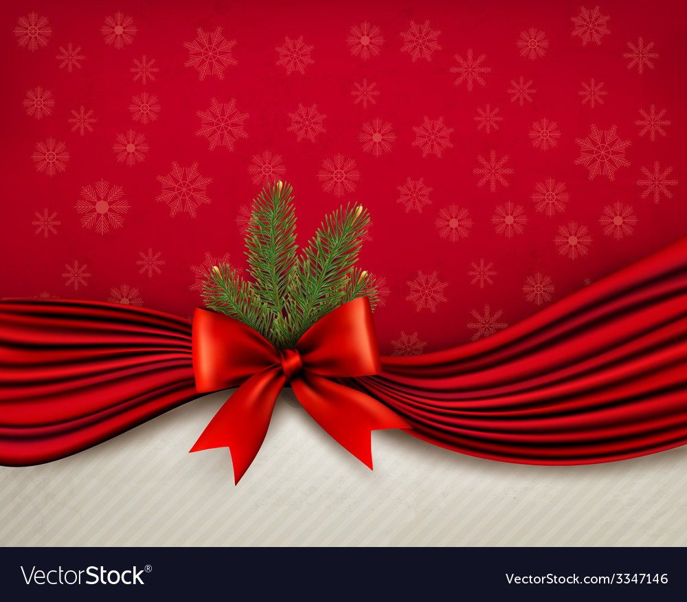 Chistmas holiday background with gift glossy bow vector | Price: 3 Credit (USD $3)