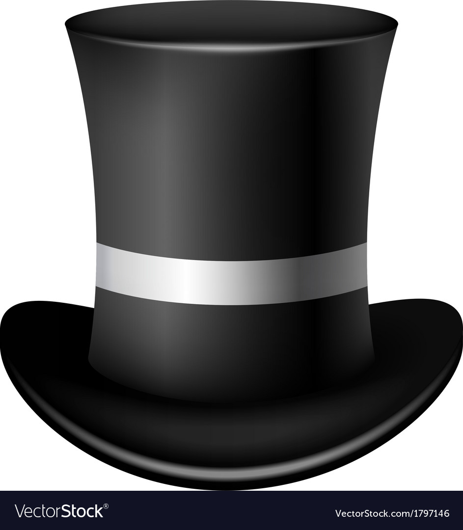 Classic cylinder hat on a white background vector | Price: 1 Credit (USD $1)