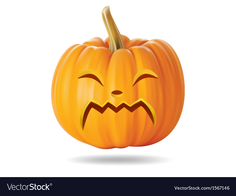 Cry pumpkin vector | Price: 1 Credit (USD $1)