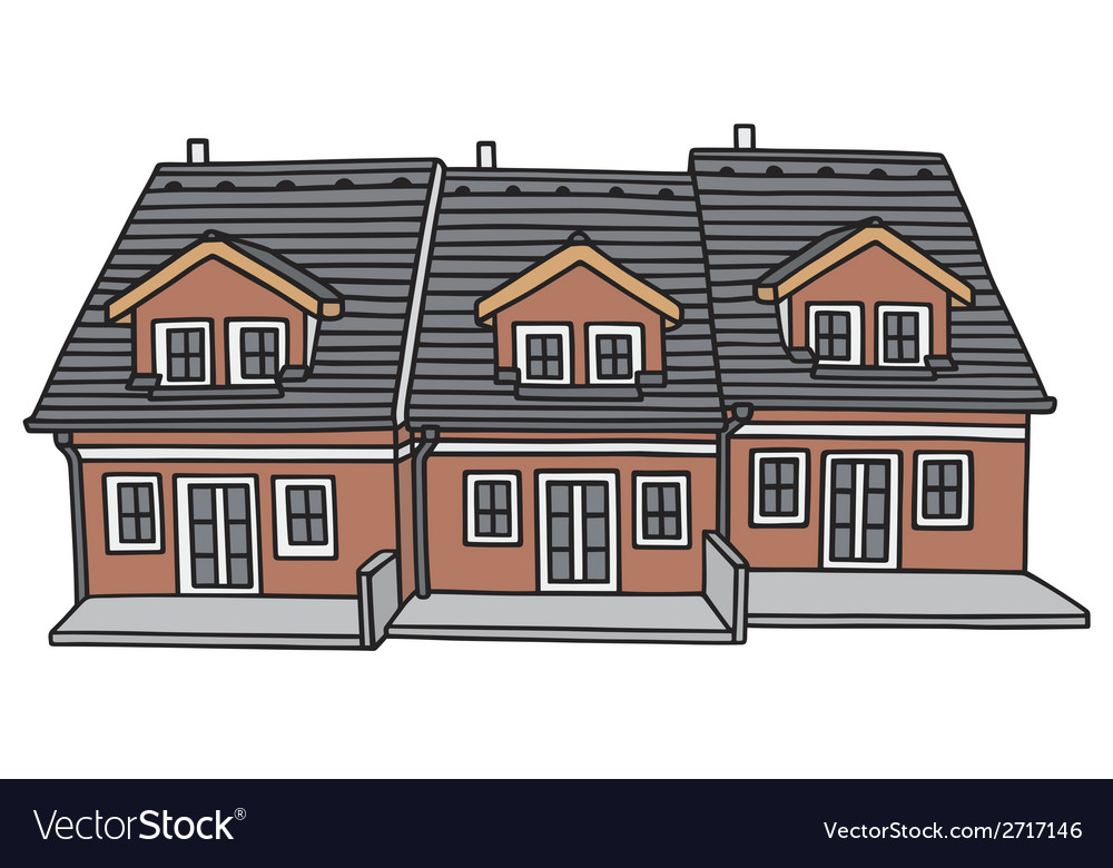 Group houses vector | Price: 1 Credit (USD $1)