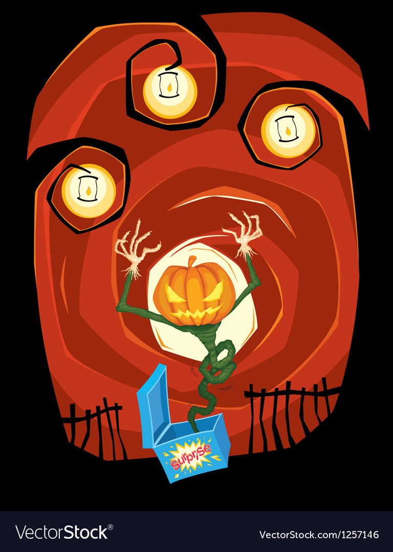 Jumping jack o lantern vector | Price: 3 Credit (USD $3)